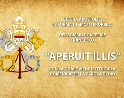 POPE ESTABLISHES THIRD SUNDAY IN ORDINARY TIME AS SUNDAY OF THE WORD OF GOD