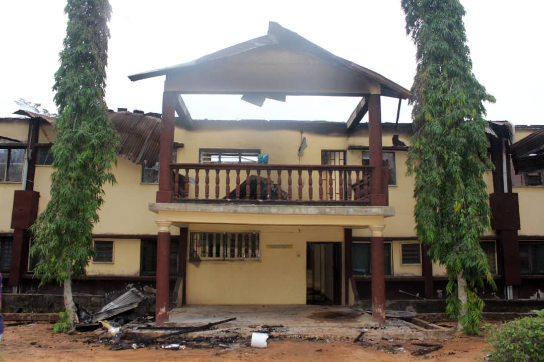Retreat House in Nekede Owerri Razed Down by Fire.